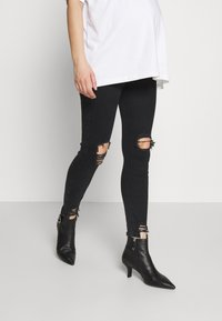 River Island Maternity - MOLLY  - Jeans Skinny Fit - washed black - 0