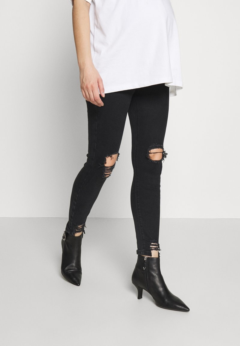 River Island Maternity - MOLLY  - Jeans Skinny Fit - washed black