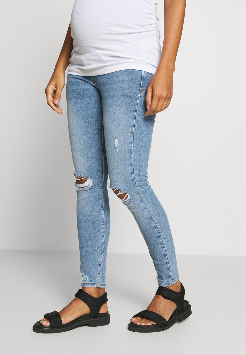 River Island Maternity - MOLLY  - Jeans Skinny Fit - light-blue denim