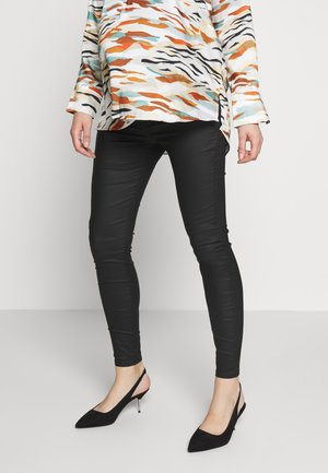 MOLLY - Jeans Skinny Fit - coated black