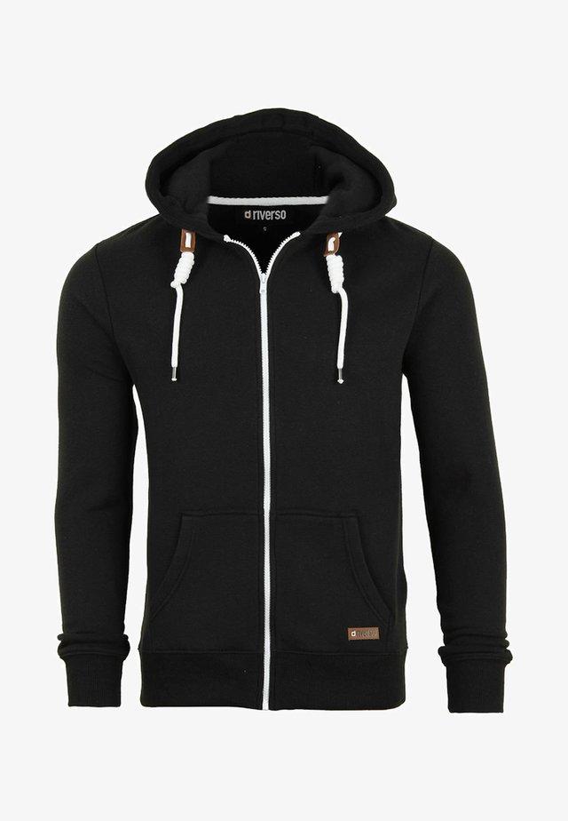 MIT REISSVERSCHLUSS KAPU - Zip-up hoodie - black