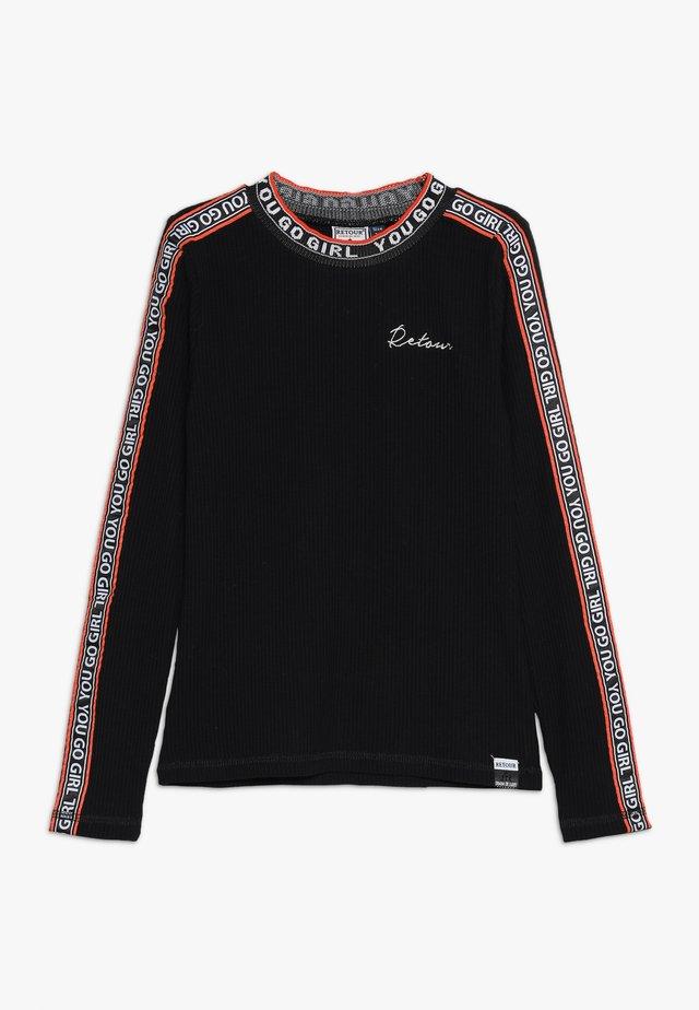 LIEKE - Langærmede T-shirts - black
