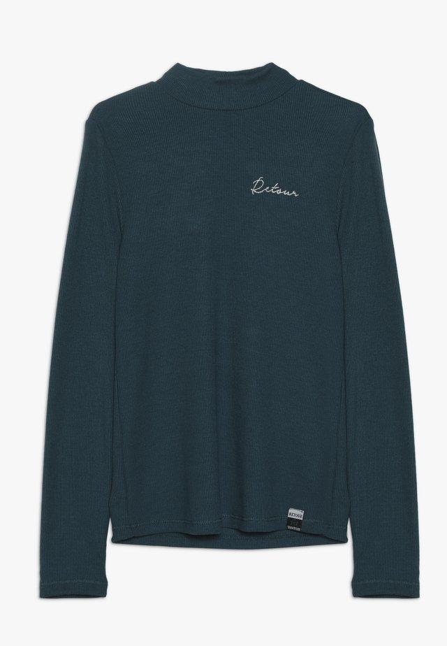 LIA - Langærmede T-shirts - deep teal