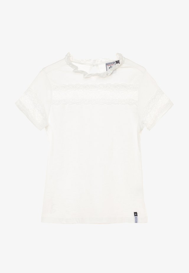 GLORIA - T-shirt med print - white