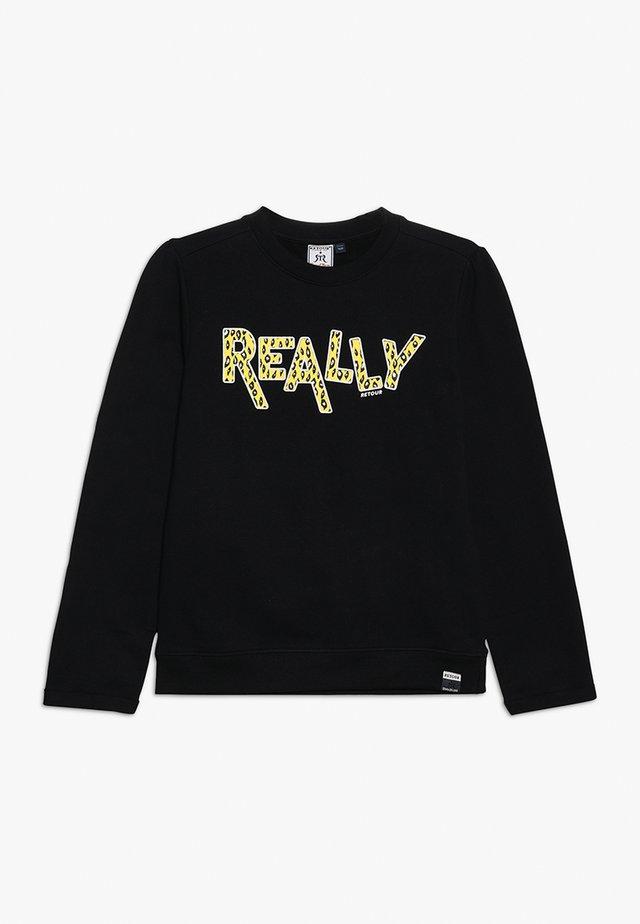 SILVIE - Sweatshirts - black
