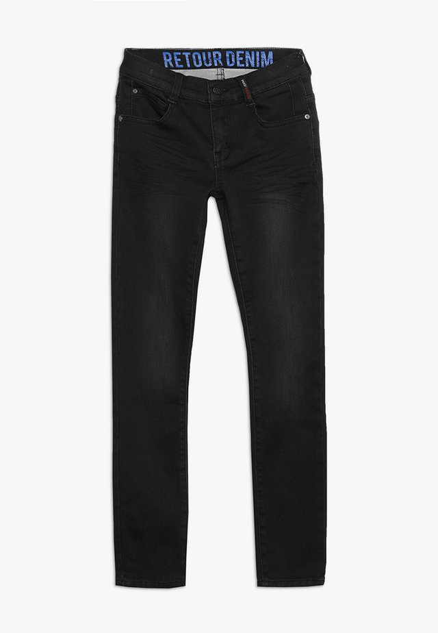 SANDER - Slim fit jeans - black denim