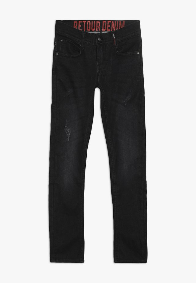 LUIGI - Jeans straight leg - black denim