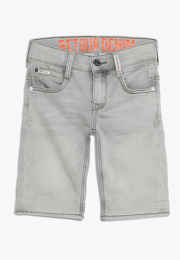 Retour Jeans - LOEK - Jeans Shorts - light grey denim