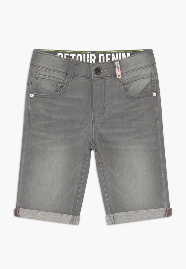 LOEK - Denim shorts - light grey denim