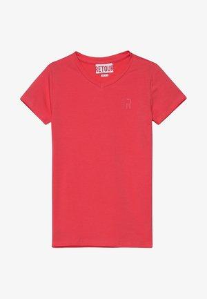 SEAN - Basic T-shirt - coral red