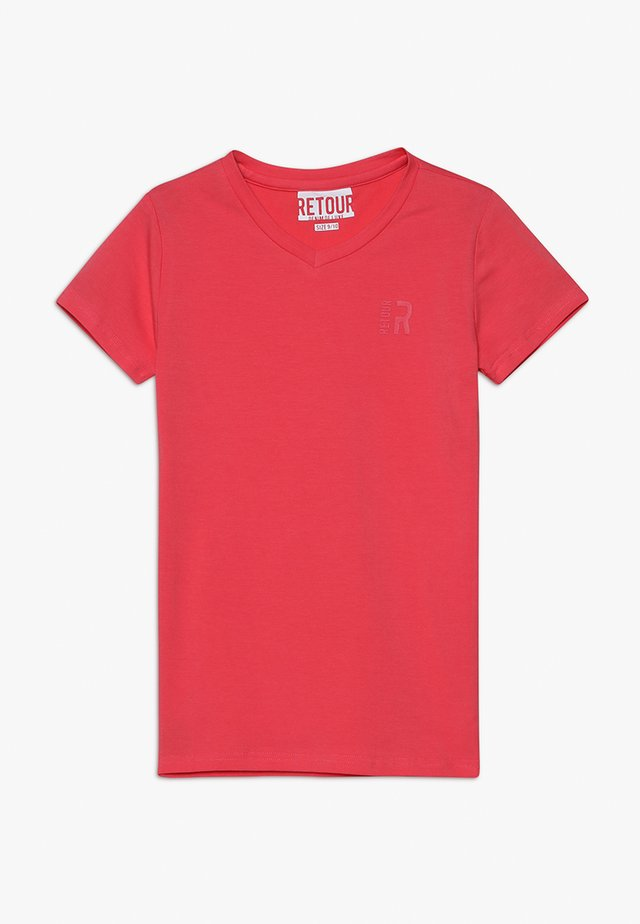 SEAN - T-shirt - bas - coral red