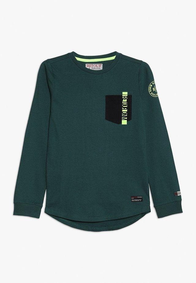 CORNELIO - Langærmede T-shirts - bottle green
