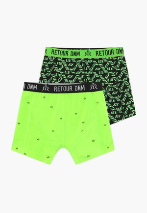 ENRICO 2 PACK - Shorty - neon green