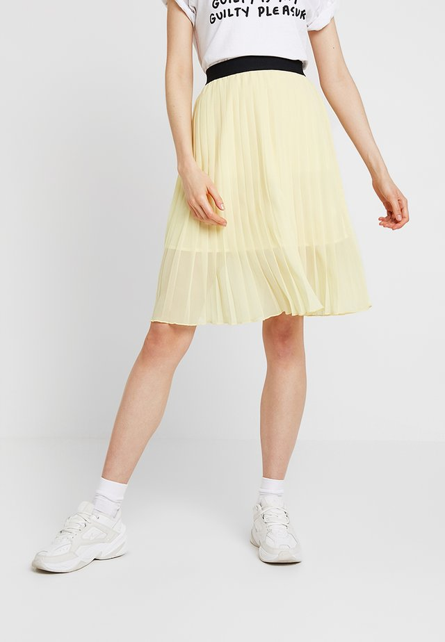 DORETTE SKIRT - Gonna a campana - pastel yellow