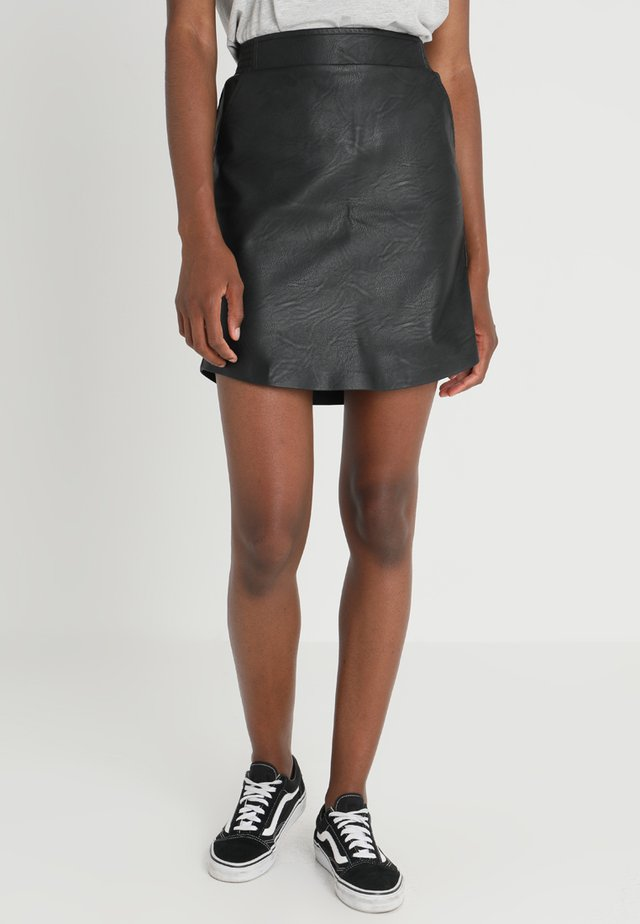 SIRI SKIRT - Mini skirt - black