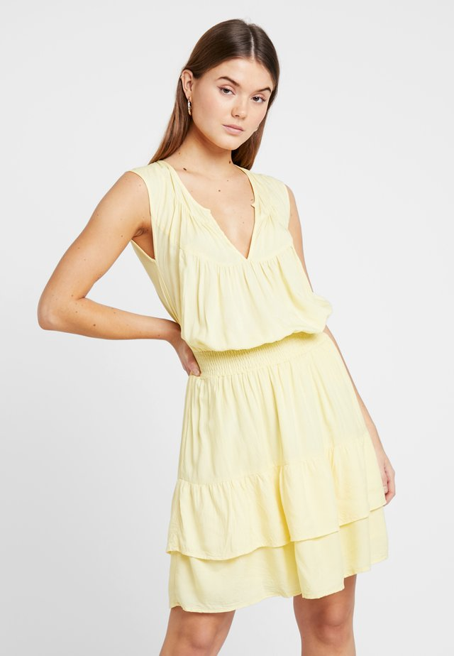 TARA SHORT DRESS - Day dress - pastel yellow