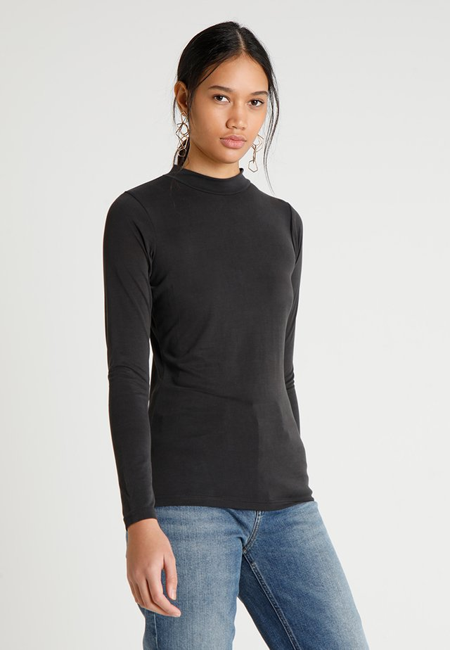 SELLA LONGSLEEVE - Long sleeved top - black