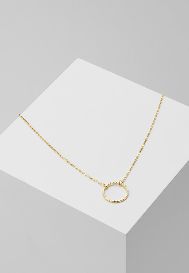 Orelia - CIRCLE CUT OUT DITSY NECKLACE - Necklace - pale gold-coloured