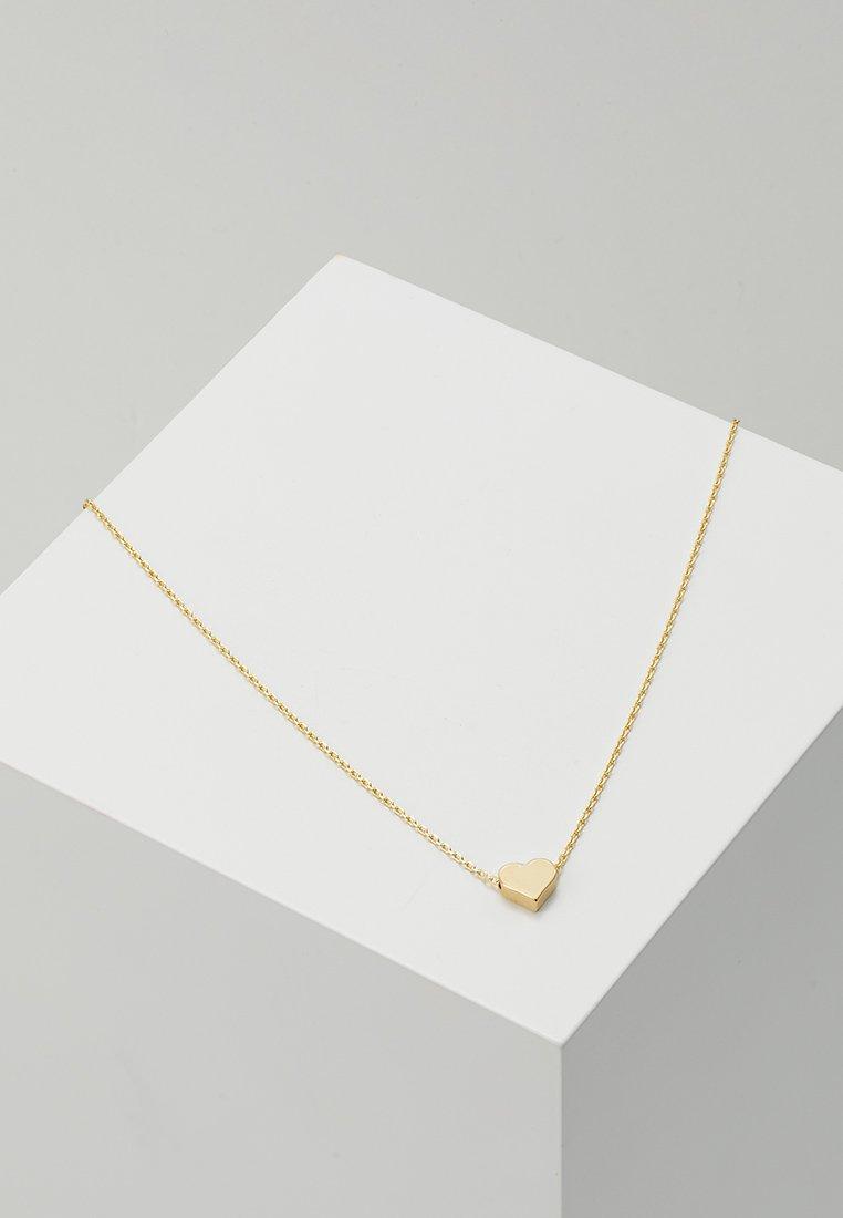 Orelia - THREAD THRU HEART NECKLACE - Náhrdelník - pale gold-coloured