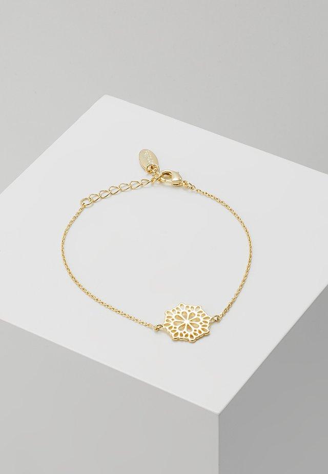 PRETTY FILIGREE DISK CHAIN BRACELET - Bracelet - gold-coloured