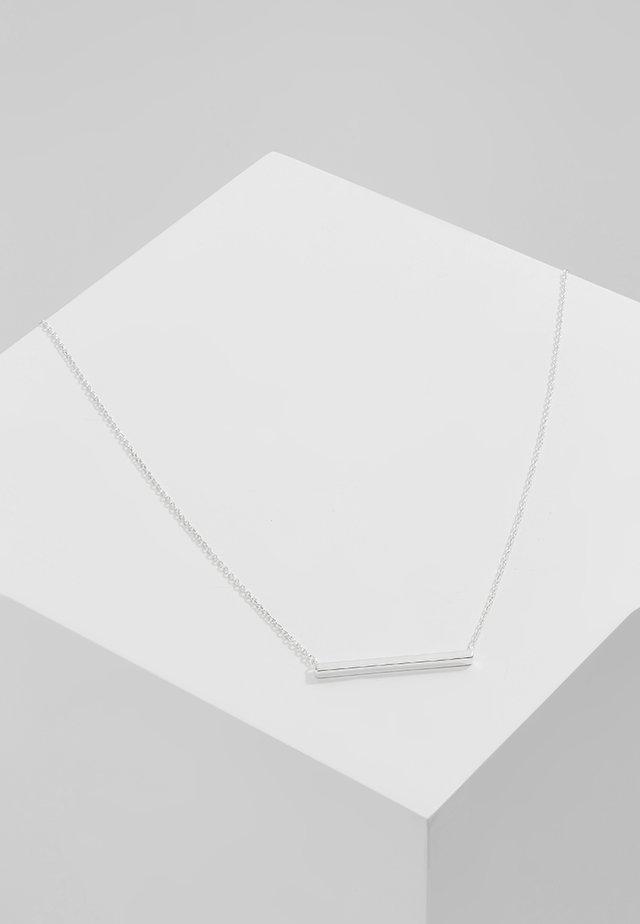 HORIZONTAL BAR SHORT - Necklace - silver-coloured