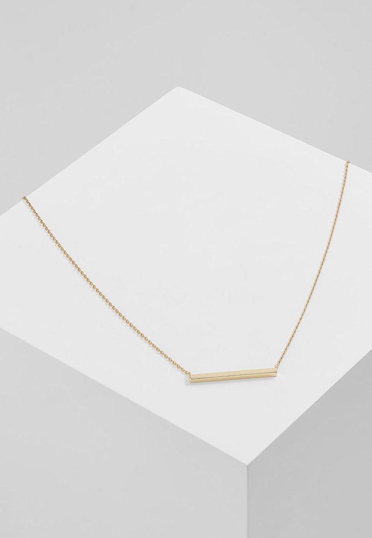 Orelia - HORIZONTAL BAR SHORT - Necklace - pale gold-coloured