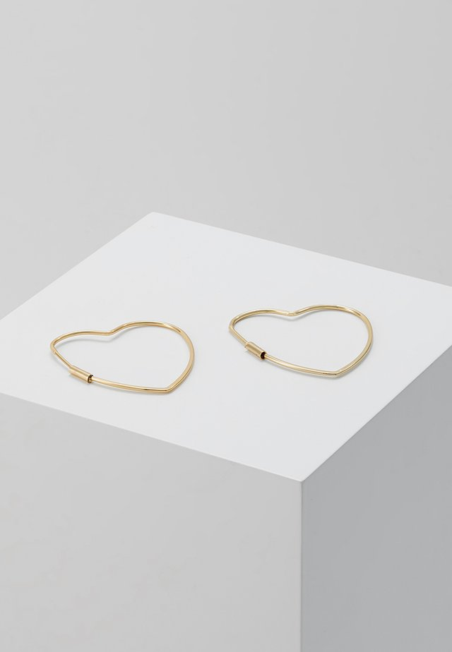 HEART HOOP EARRINGS - Ohrringe - gold-coloured