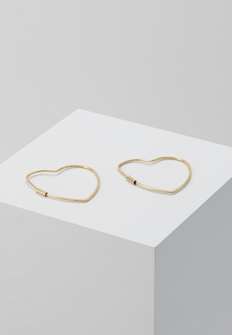 Orelia - HEART HOOP EARRINGS - Ohrringe - gold-coloured
