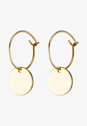MINI COIN HOOP EARRING - Øredobber - pale gold-coloured