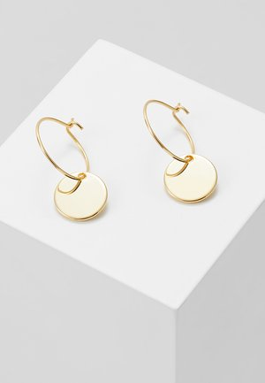 MINI COIN HOOP EARRING - Pendientes - pale gold-coloured