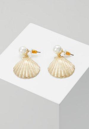 STATEMENT SHELL DROP EARRINGS - Korvakorut - pale gold-coloured