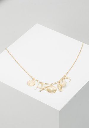 SEAFOAM CHARM NECKLACE - Necklace - pale gold-coloured