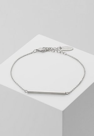 HORIZONTAL BAR CHAIN BRACELET - Náramek - silver-coloured
