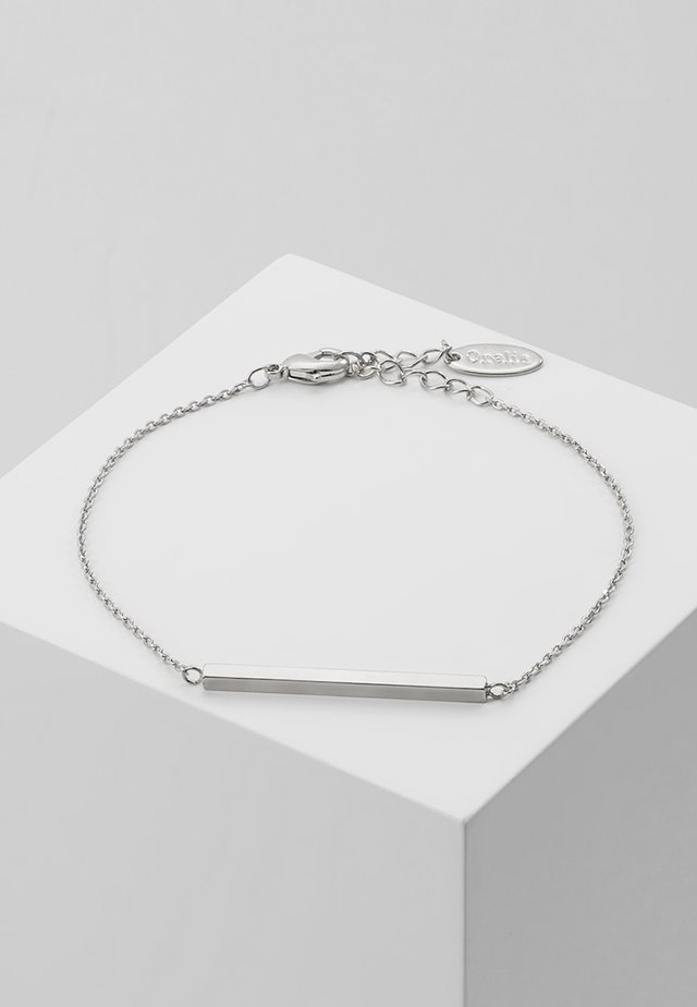 HORIZONTAL BAR CHAIN BRACELET - Armband - silver-coloured