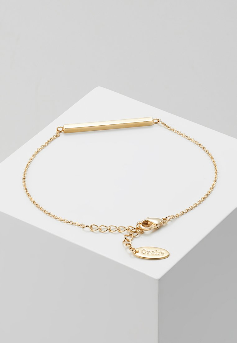 Orelia BraceletPale coloured Chain Gold Bar Horizontal gf76IYbyvm