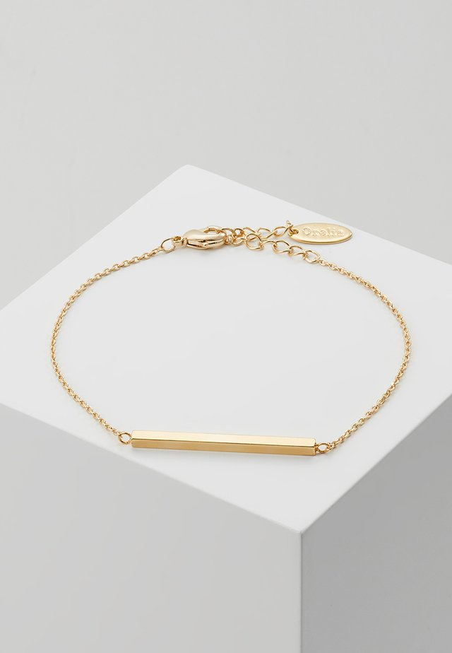 HORIZONTAL BAR CHAIN BRACELET - Armband - pale gold-coloured