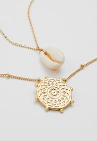 Orelia - SHELL & PALM TAG 2 ROW - Collier - pale gold-coloured - 4