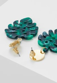 Orelia - PALM LEAF COIN DROP EARRINGS - Örhänge - pale gold-coloured - 2