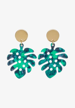 PALM LEAF COIN DROP EARRINGS - Ketting - pale gold-coloured