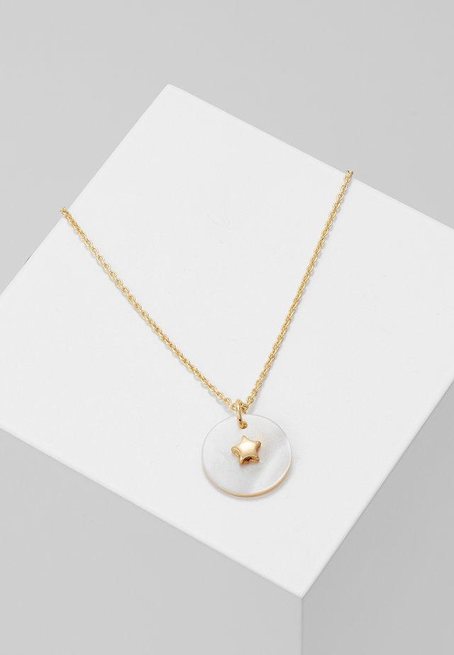 STAR EMBELLISHED MOP DISC DITSY - Necklace - pale gold-coloured