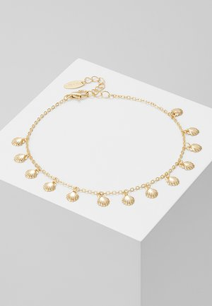 SHELL MULTI CHARM ANKLET - Rannekoru - pale gold-coloured