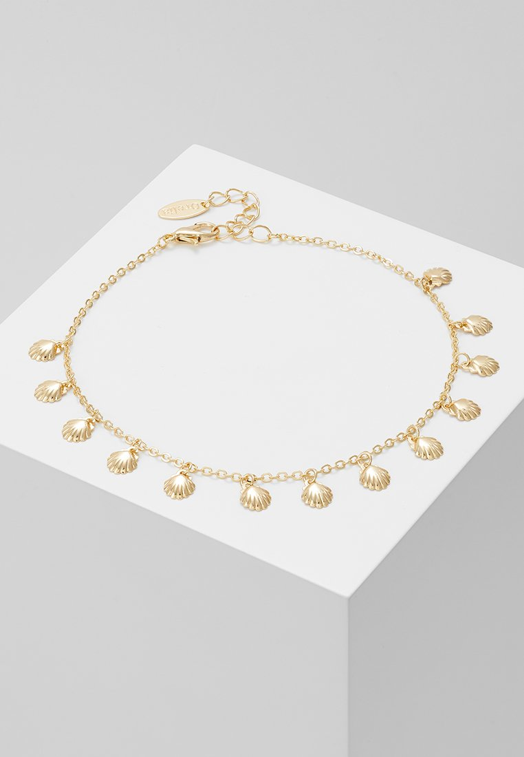 Orelia - SHELL MULTI CHARM ANKLET - Armband - pale gold-coloured