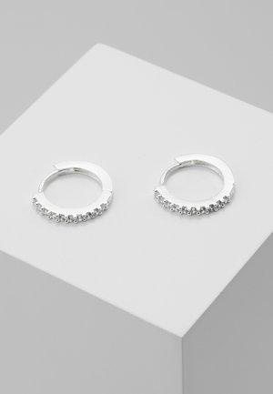 MINI PAVE HOOP EARRINGS - Ohrringe - silver-coloured