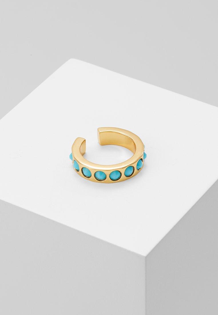 Orelia - CHUNKY SINGLE EAR CUFF - Oorbellen - turquoise