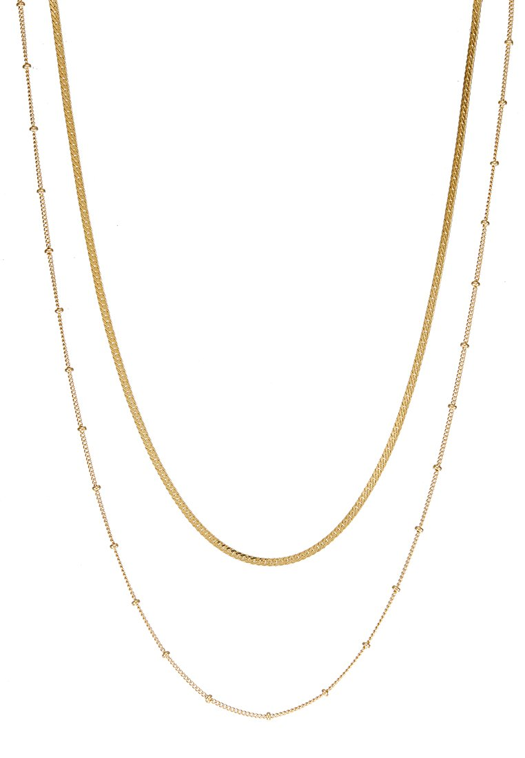Orelia SATELLITE AND FLAT CURB CHAIN SET - Halsband - gold-coloured