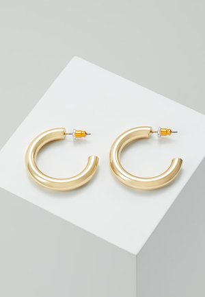 SMALL CLEAN CHUNKY HOOP - Pendientes - gold-colored