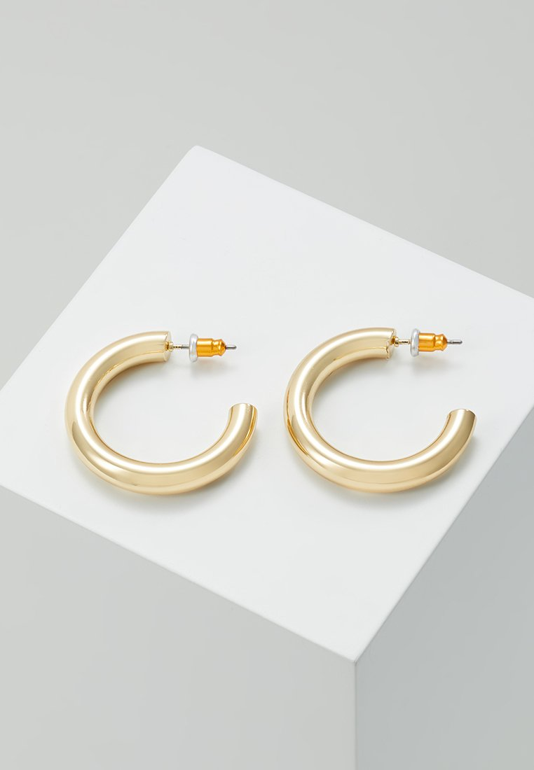 Orelia - SMALL CLEAN CHUNKY HOOP - Pendientes - gold-colored