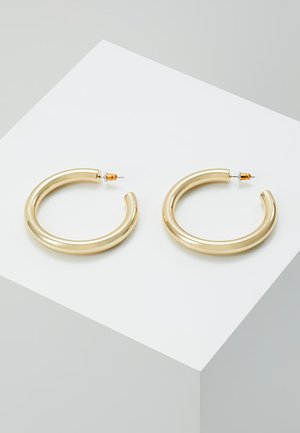 LARGE CLEAN CHUNKY HOOP - Boucles d'oreilles - pale gold-coloured