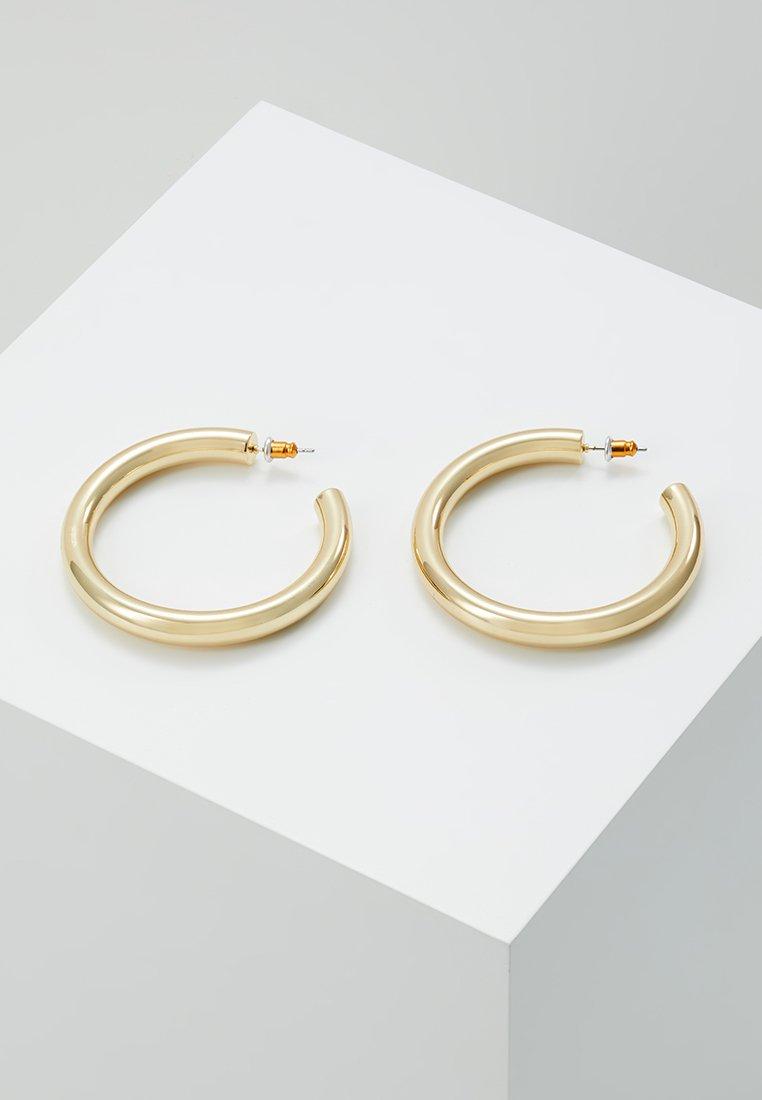 Orelia - LARGE CLEAN CHUNKY HOOP - Boucles d'oreilles - pale gold-coloured