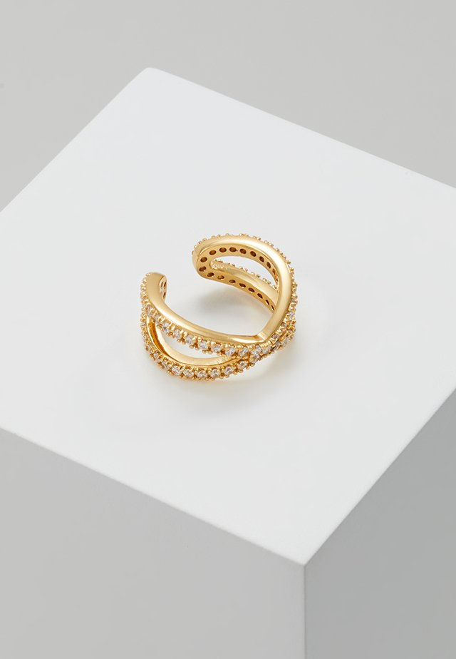 PAVE CROSS OVER SINGLE EAR CUFF - Náušnice - gold-coloured
